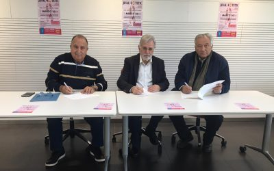 Firma Convenio Colaboración Asociación Española contra el Cáncer